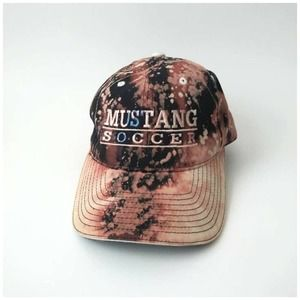 Upcycled Bleached Tie Dye Mustang Soccer Dad Cap